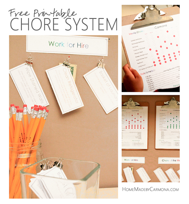 Free Printable Chore System by HMC