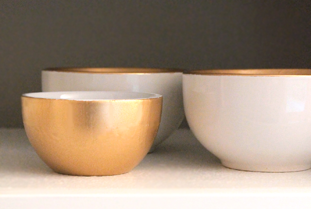Gold Sprayed bowls - featured image