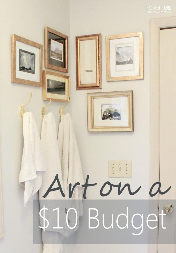 Bathroom Art On A 10 Budget Home Made By Carmona