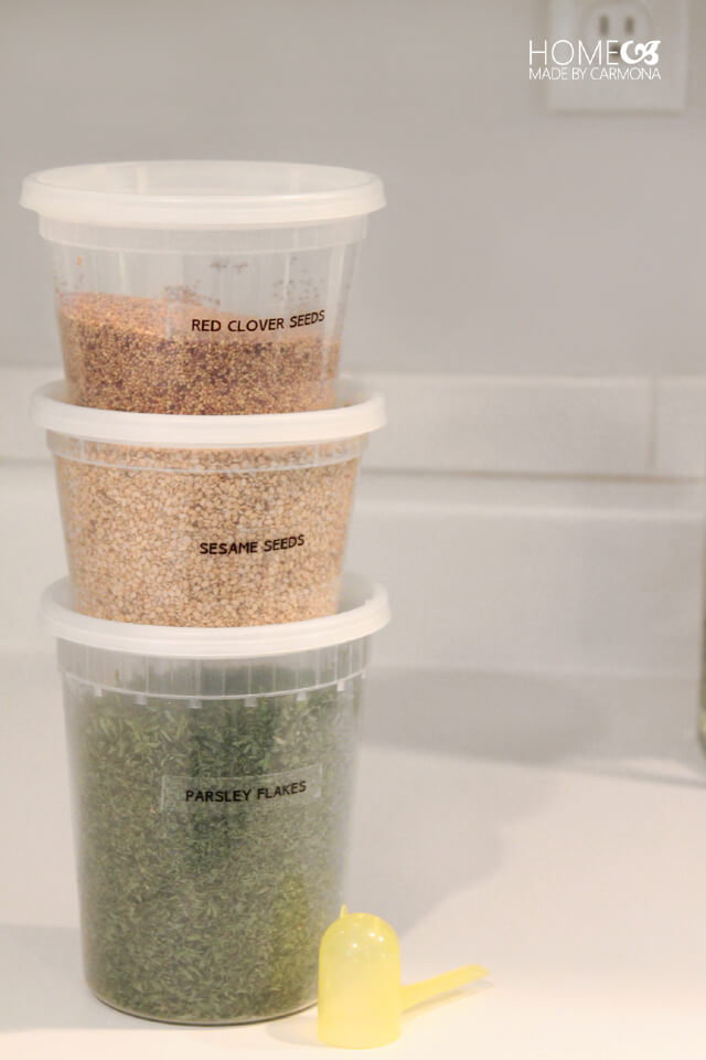 Plastic soup takeout containers for storage