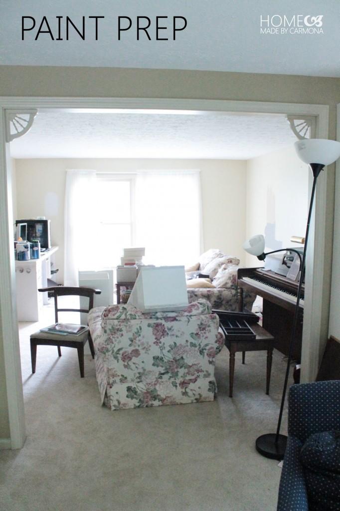 Sitting Room - Office - paint prep