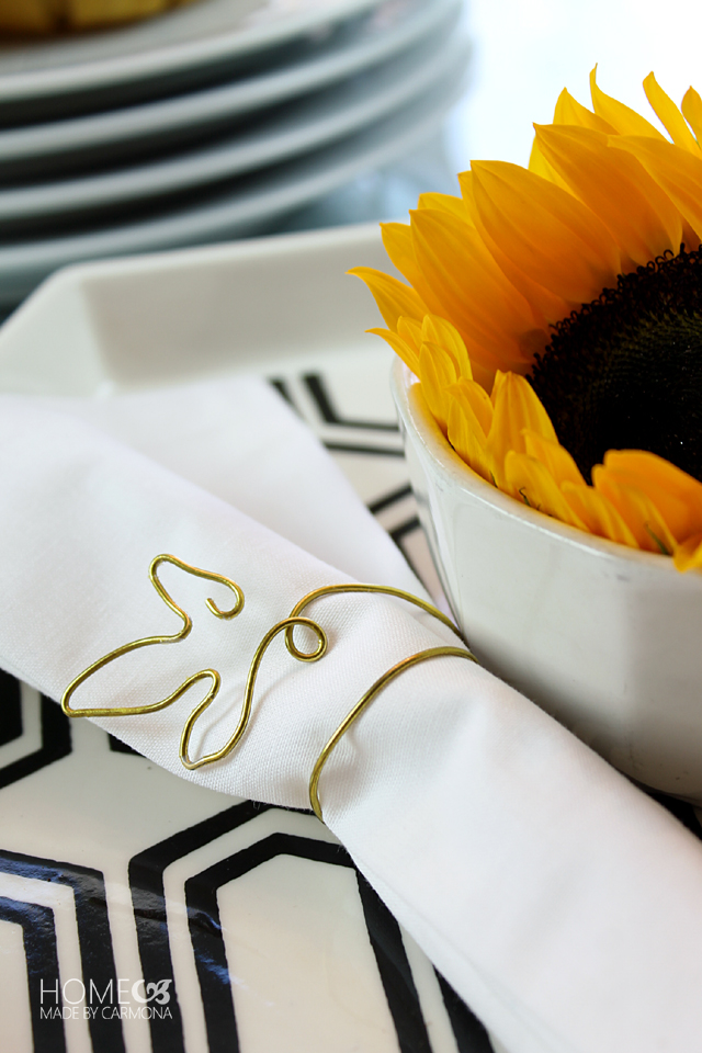 DIY Leaf napkin rings