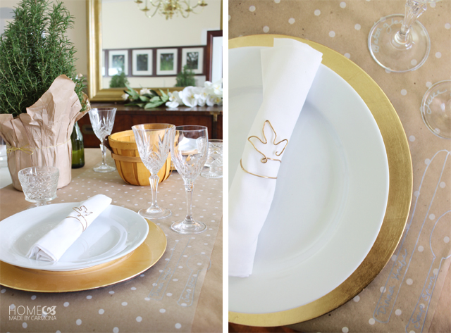 Craft paper place mat table setting