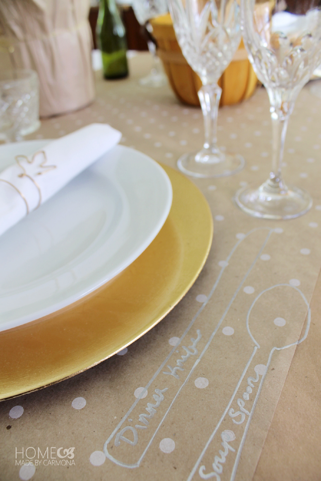 Table setting outline utensils