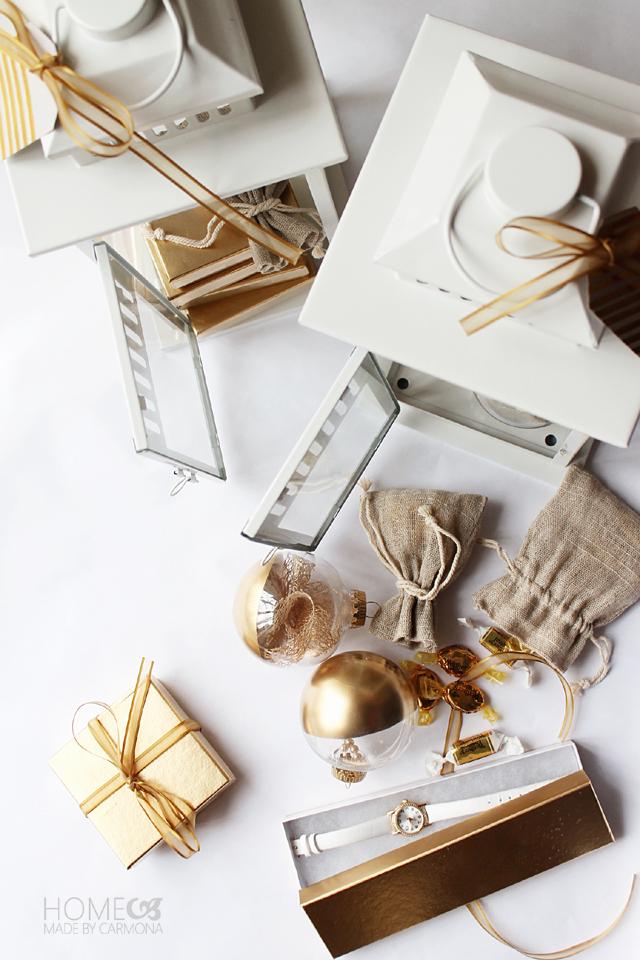 Gift filled lanterns