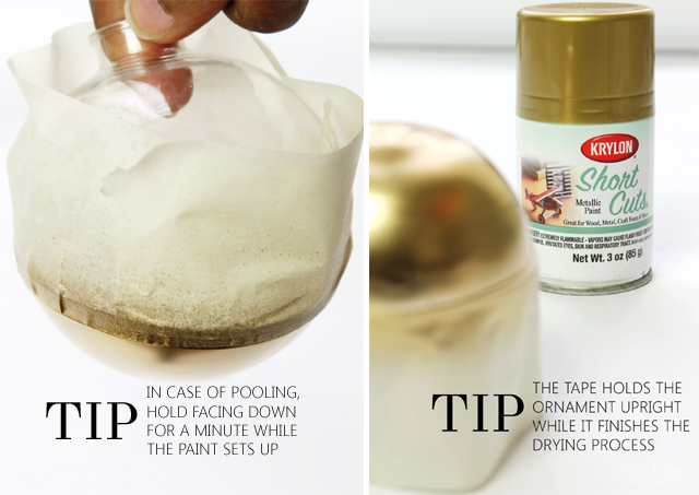 Gold dipped ornament tips