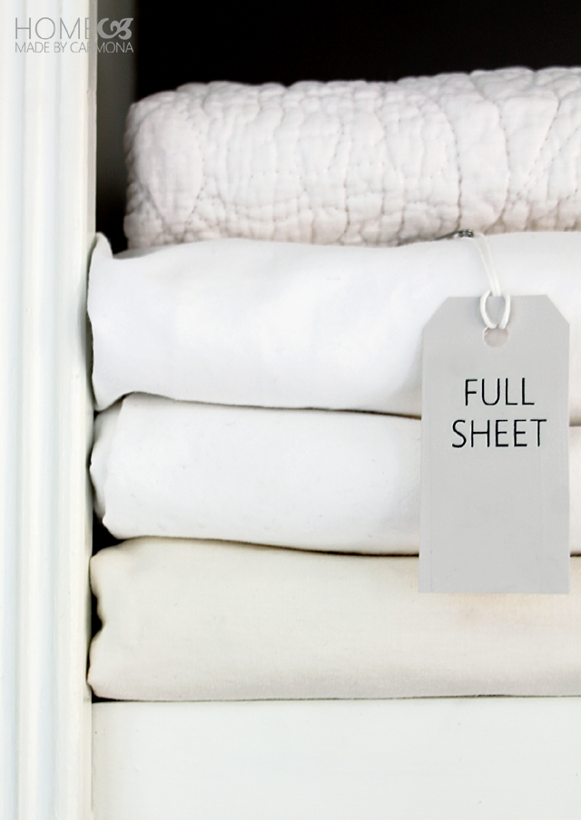Organized Linens