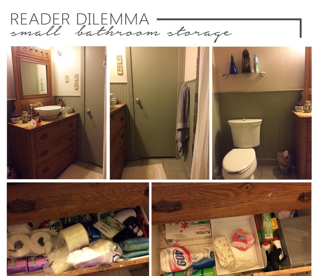 Reader dilemma- small bathroom space