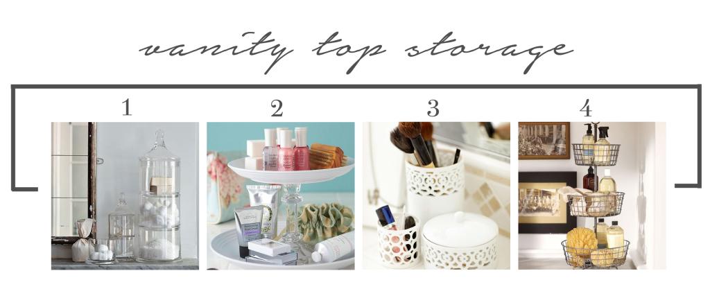 Vanity top storage
