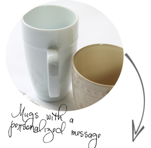 mugs with a personalized message