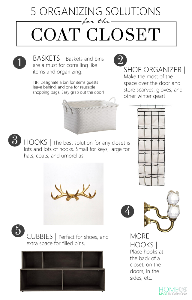 5 Organizing Solutions For The Coat Closet