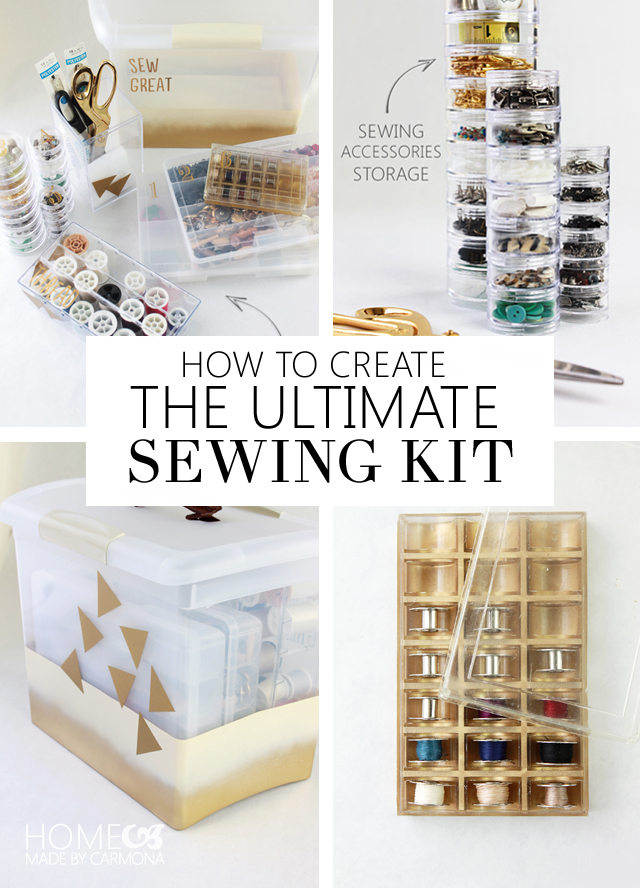 How To Create The Ultimate Sewing Kit - Home Made by Carmona