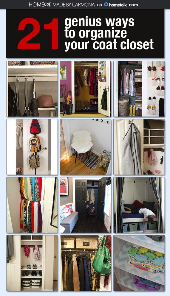 21 Genius Ways To Organize Your Coat Closet