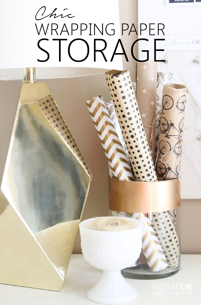 stored wrapping paper