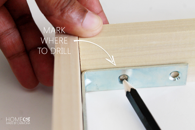 Floating Frame - mark where to drill