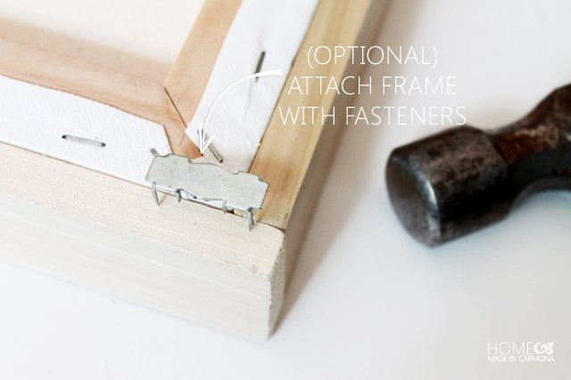 Floating Frame - optional- attach fasteners