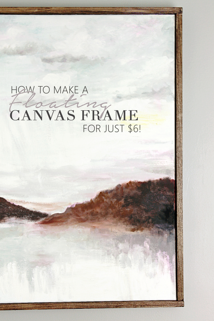 How to make a floating frame for $6!