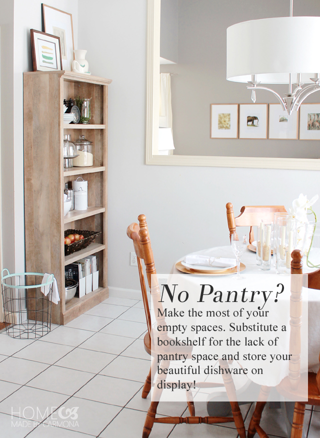 No Pantry - Substitute a Bookshelf