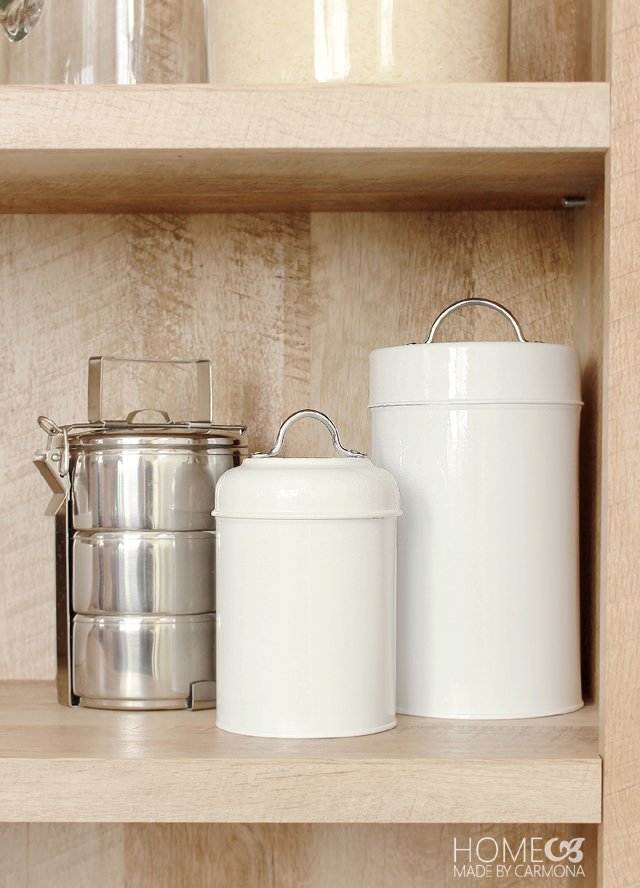 White storage tins