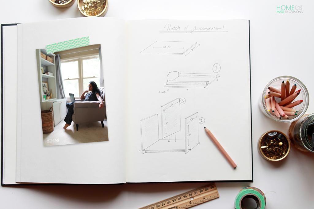 Bookcase Hutch building plans