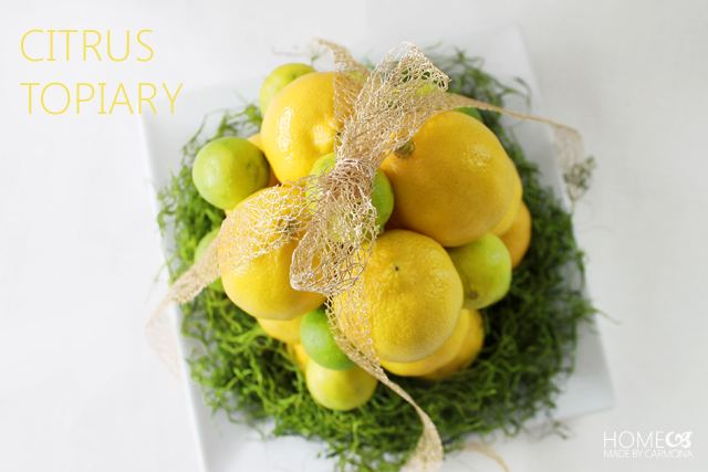 Citrus centerpiece and topiary