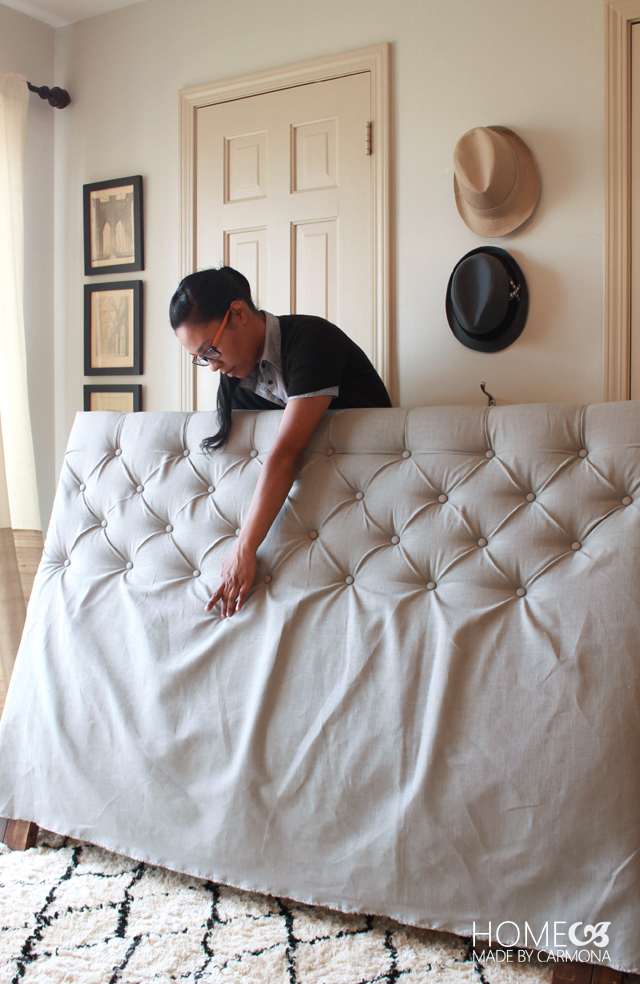 Strange How To Make A Diamond Tufted Headboard Machost Co Dining Chair Design Ideas Machostcouk