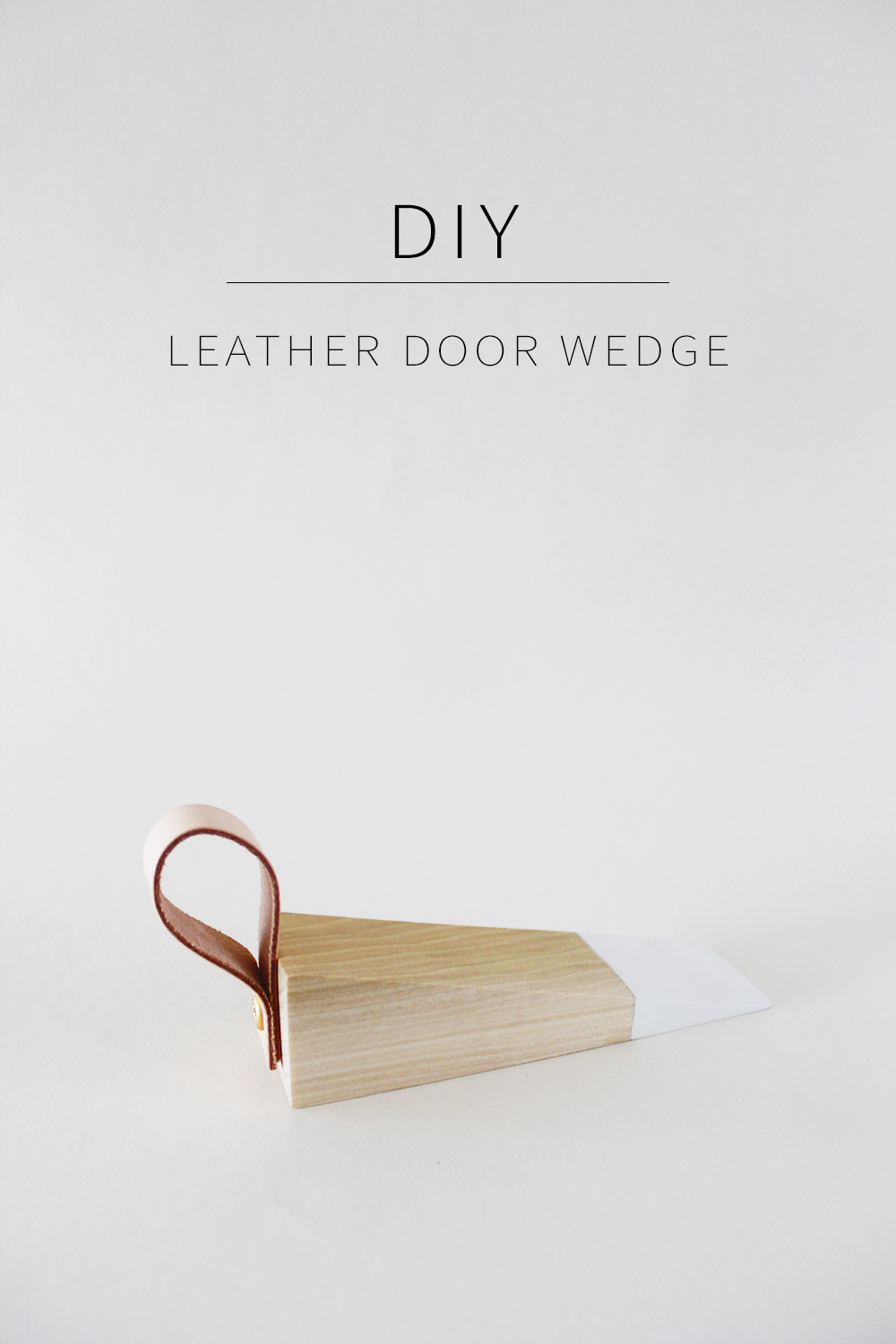 Learn how to make a gorgeous DIY door stop wedge with this tutorial from Annabode