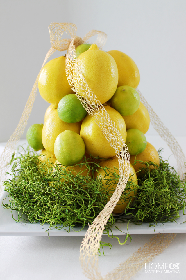 Spring centerpiece - citrus topiary