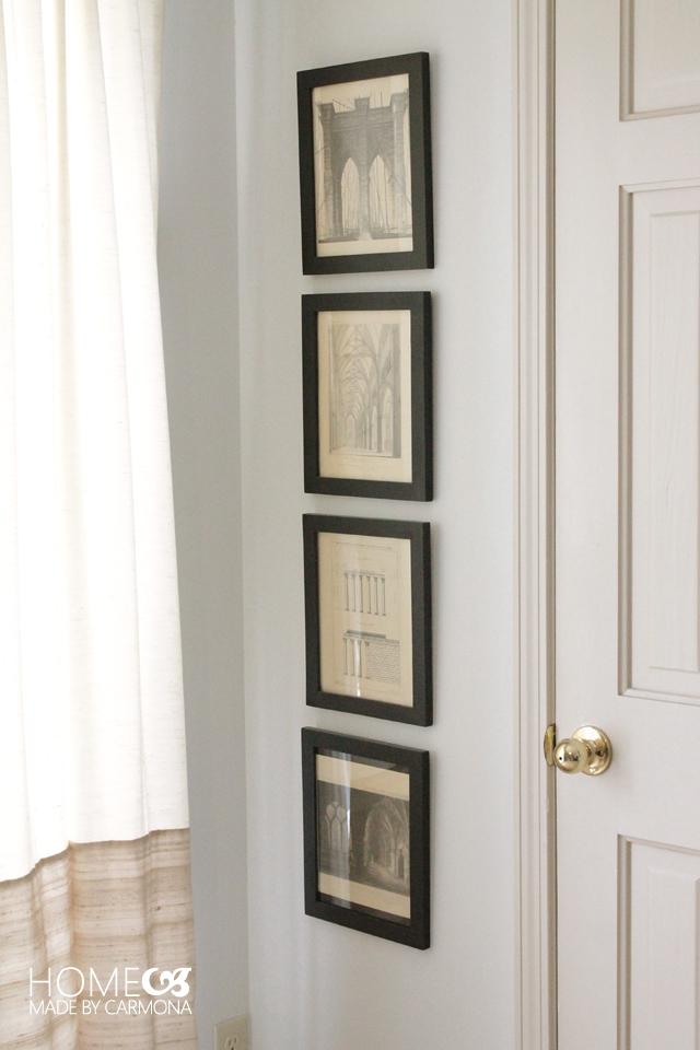 Bedroom art - architectural prints