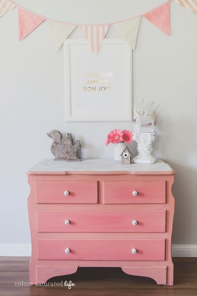 Colour Saturated Life Coral Dresser