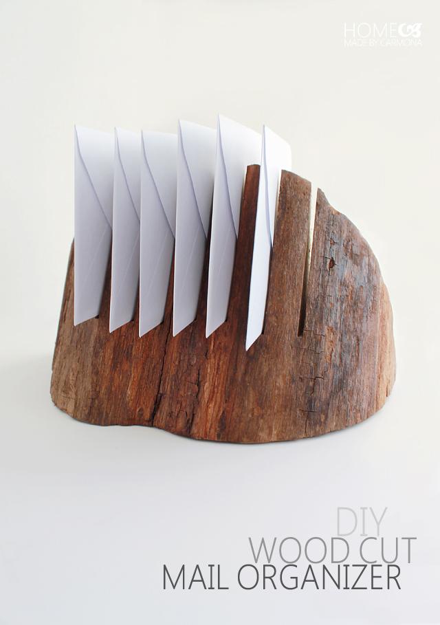 DIY Wood Cut Mail Organizer - Great Tutorial