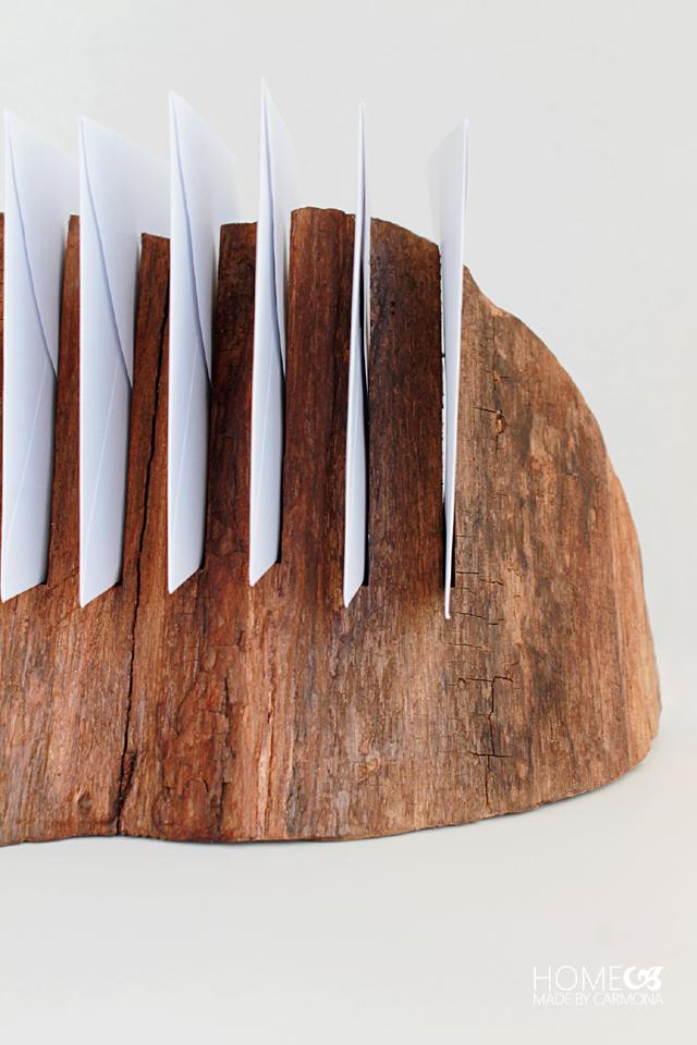 DIY Wood Cut Mail Organizer