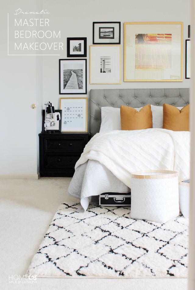 Dramatic Master Bedroom Makeover