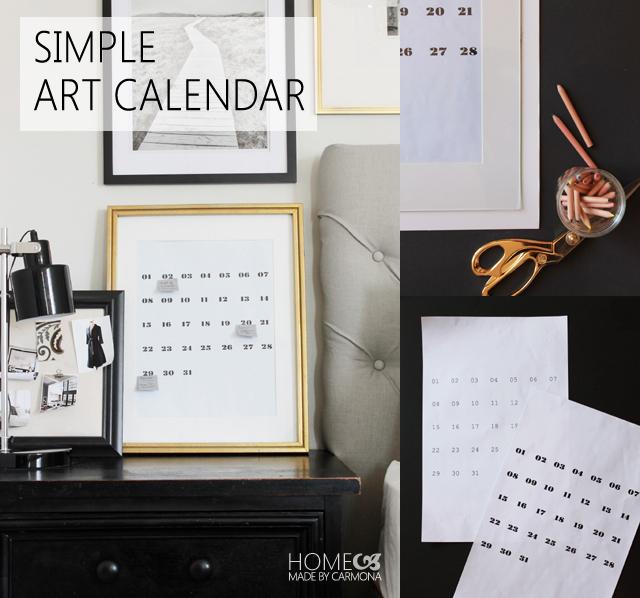 Simple Art Calendar