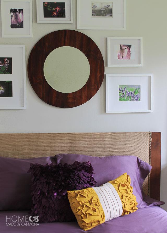 Voilet-bedroom-art-wall