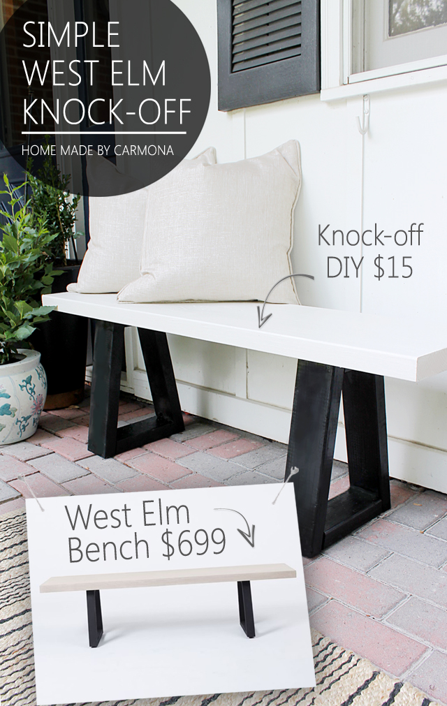 Incredible West Elm Bench Knock Off Home Made By Carmona Uwap Interior Chair Design Uwaporg
