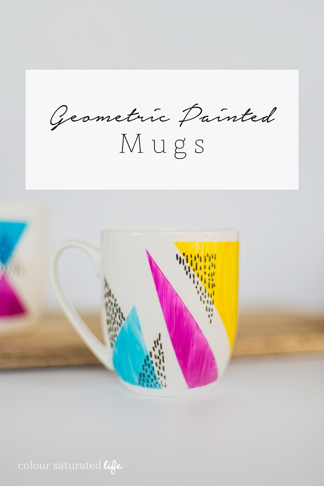 Home Made by Carmona | DIY Handpainted Geometric Mugs