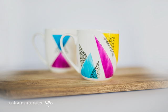 Home Made by Carmona | How to paint ceramic mugs