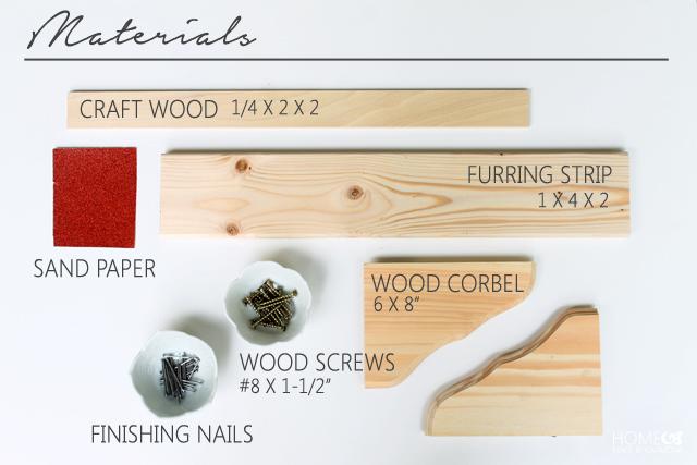 Corbel-Shelves-Materials