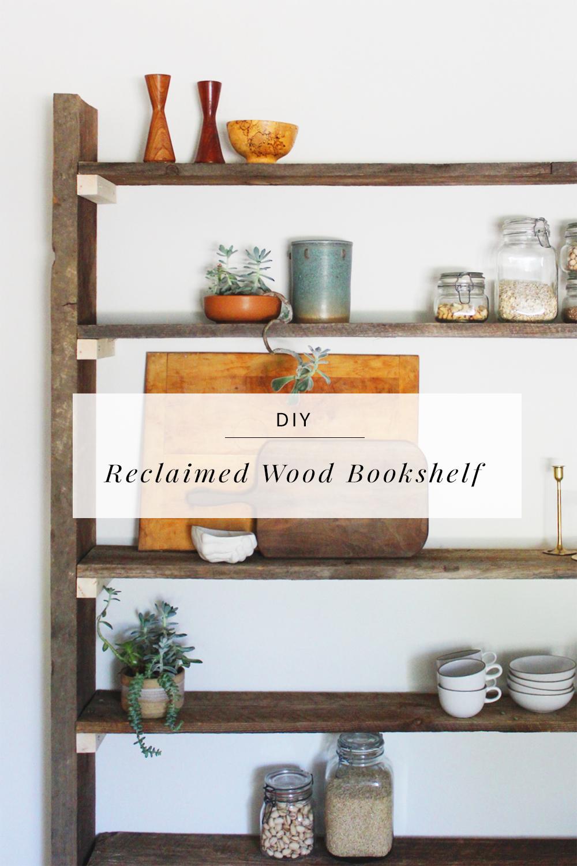 Diy Reclaimed Wood Bookshelf By Anna Elyce Smith