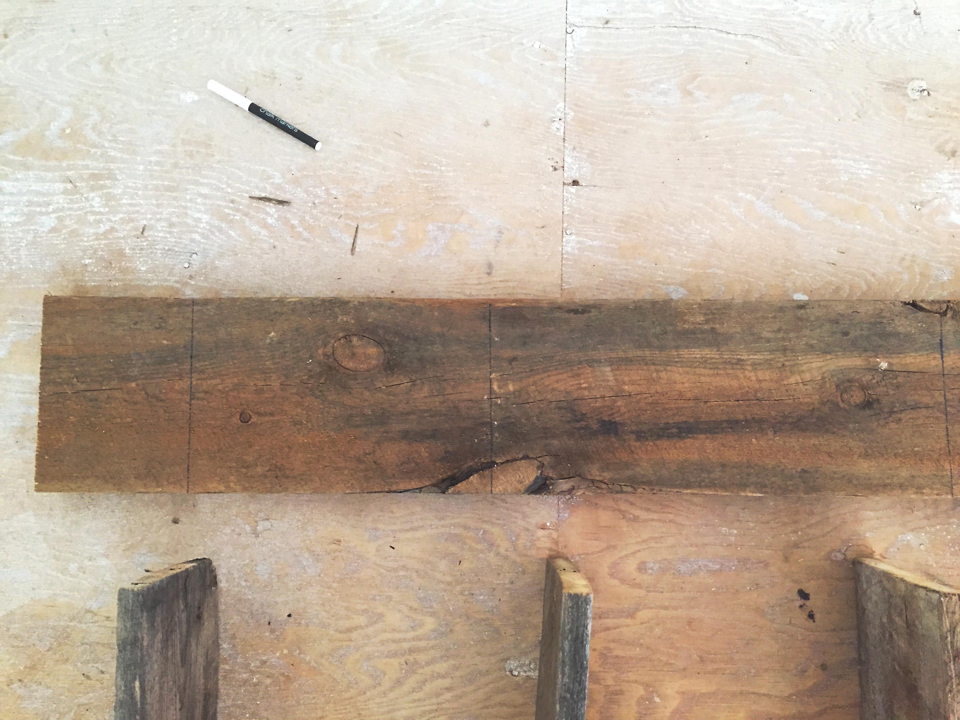 Like that subfloor? We're installing wood floors in two weeks!