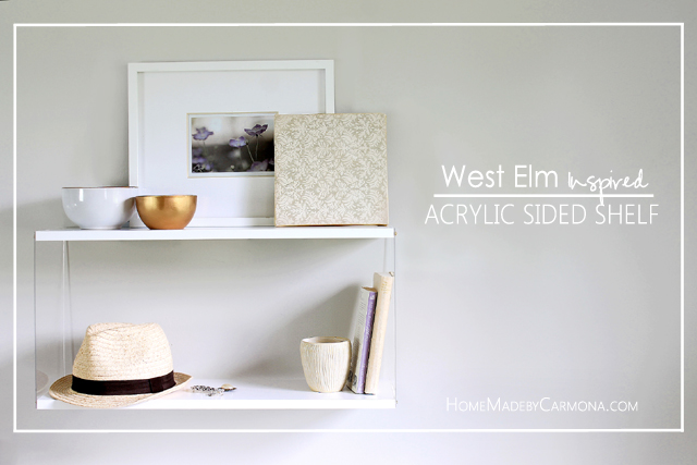 West Elm Inspired Shelves