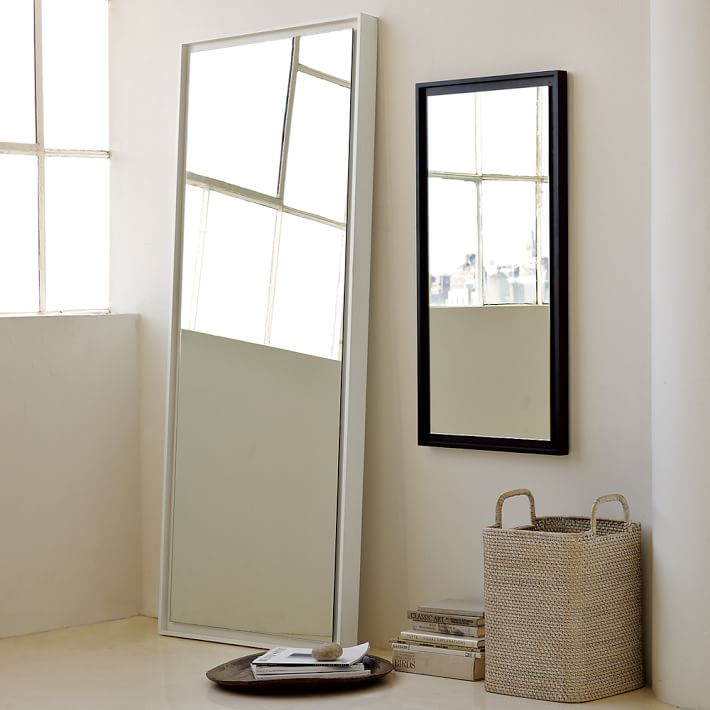West Elm Floating Mirrors on website