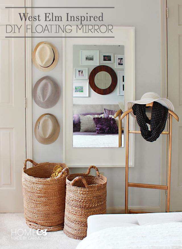 West Elm Inspired DIY Floating Mirror