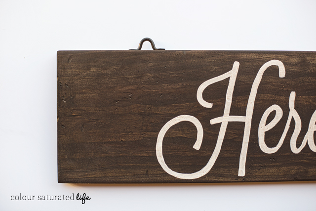 Tutorial on how to make a hanging sign