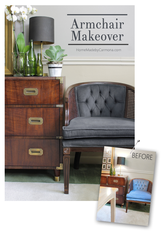 Armchair Painted Makeover