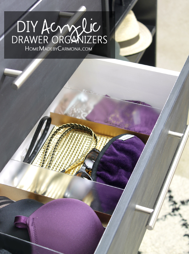 How to make a custom DIY Acrylic Drawer Organizer