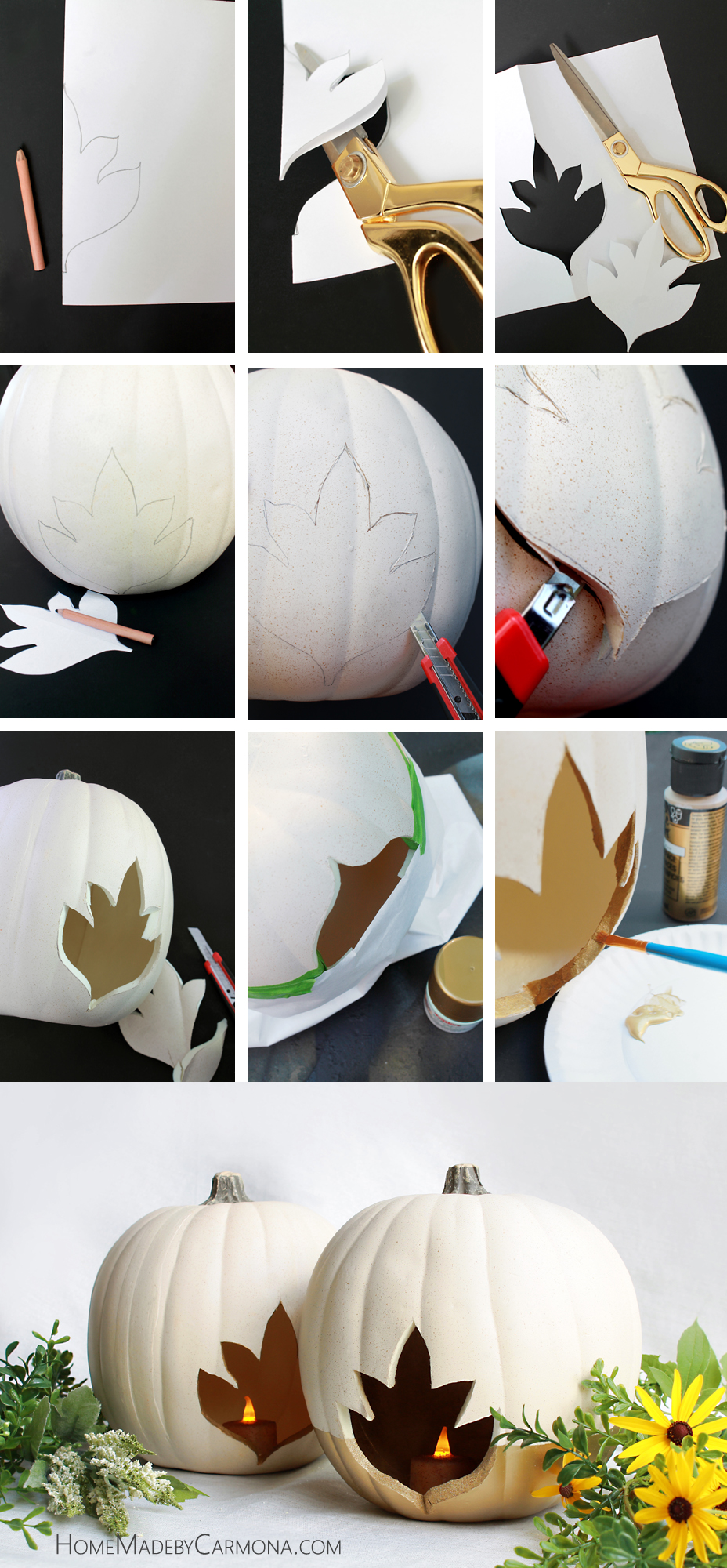 Carveable Foam Pumpkin DIY