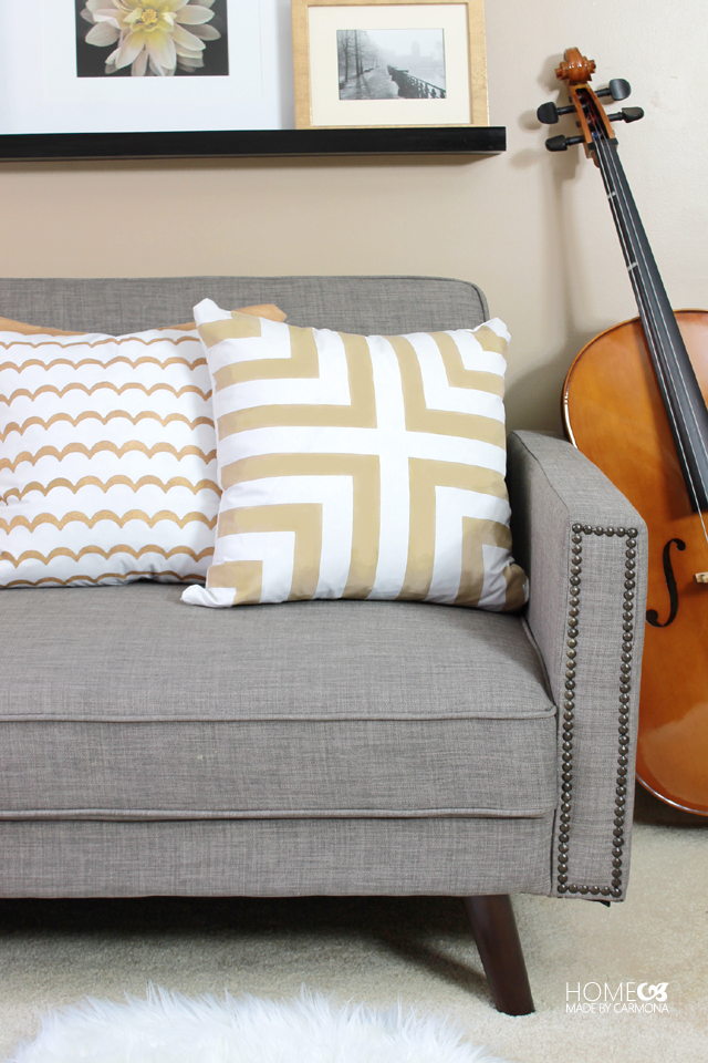 Designer throw pillow hack for $5