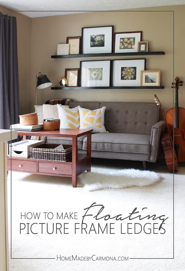 How To Make Floating Picture Frame Ledges